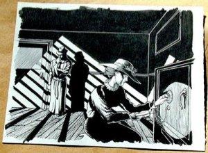 Steve Jackson Games Original ART #5 Gumshoe/Safe Crack