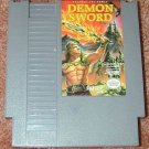 DEMON SWORD Fantasy NES game+FREE SIGNED Trading CARD!