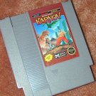 KARNOV NES arcade game+FREE SIGNED Trading CARD