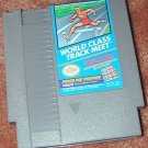 WORLDCLASS TRACK MEET NES game+FREE SIGNED TRADING CARD