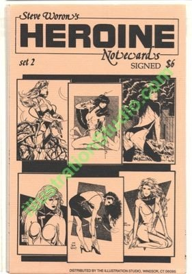 Steve Woron's SIGNED sexy Heroine NoteCard set #2 of 3!