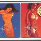 Autographed Steve Woron 2 Swimsuits Cards Screwdown FSh