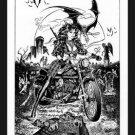 Paresi's~HARLEY VAMPIRE HUNTER-Signed Print!