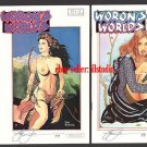 Woron's Worlds #2A & 2B +Signed Vampi cards & More
