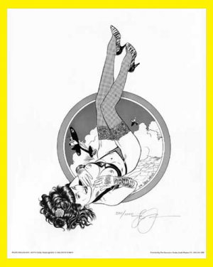 Steve Woron's Betty Page:Tease Queen#1 of 8 S/N'd PinUp