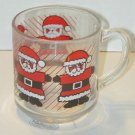 Santa Clause Transparent Glass Mug