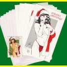 Woron's Bettie Page Christmas Cards set#1 SIGNED Scarce