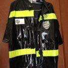 FIREMAN Kids Halloween Costume Med. 8-10 worn 1X NICE!