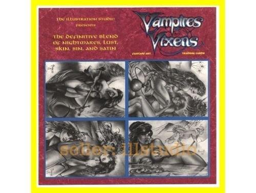Scarce PROMO SELL Sheet~SIGNED Don Paresi VAMPIRES & VIXENS 4 Card