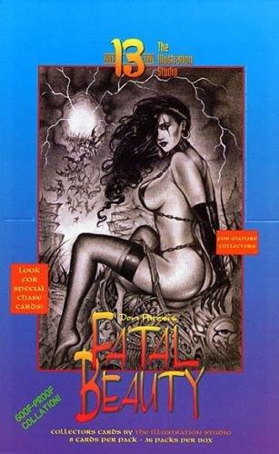 Don Paresi's Dark Fantasy FATAL BEAUTY Foil Box+6 Promo Set +Betty Page