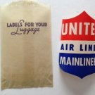 AMERICAN AIRLINES Luggage Sticker Still in Glassine Envelope w/ Gummed Back 1950