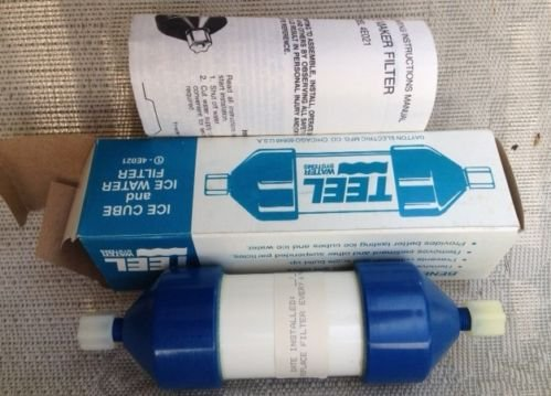 "TEEL ICE CUBE & WATER Universal FILTER Fits any Refrigerator w 1/4"" Supply Line"
