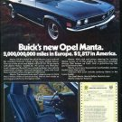 Vintage GM BUICK's 1973 73 OPEL MANTA, 1973 Advertisement +FREE Ad!