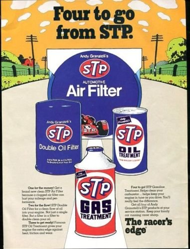 Vintage FOUR to GO FROM STP 1973 Racing Advertisement +FREE Ad!