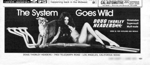 Vintage Doug Thorley Headers 1973 Advertisement Los Angeles CA, +Bonus Ad FREE!