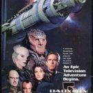 BABYLON 5 Original Trimmed Paper TV Series Advertisement 1993 Bruce Boxleitner