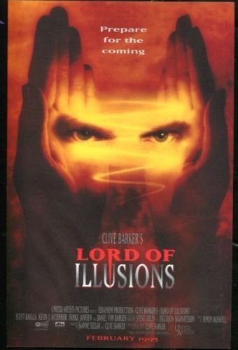 LORD of ILLUSIONS Original Trimmed Paper Movie Advertisement 1995 Scott Bakula