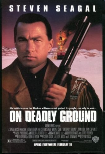 ON DEADLY GROUND Original Trimmed Paper Movie Advertisement 1993 Steven Seagal