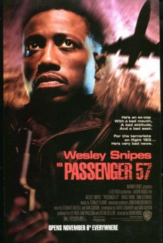 PASSENGER 57 Original Trimmed Paper Advertisement 1992 Wesley Snipes