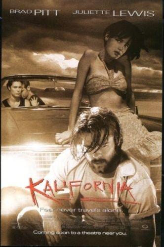 KALIFORNIA Original Trimmed Paper Advertisement 1993, Brad Pitt, Juliette Lewis