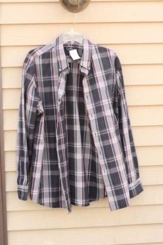 Men's Dockers XL Extra-Large Plaid Multi-Color Sleeve Shirt