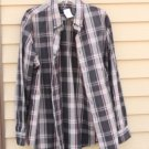 Men's Dockers XL Extra-Large Plaid Multi-Color Sleeve Shirt