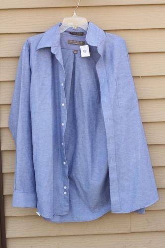 Men's Claybrooke XL Extra-Large Blue Long Sleeve Shirt 36/37