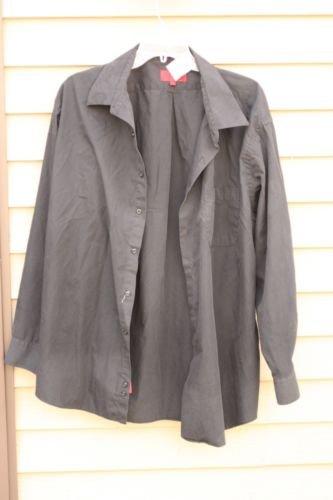 Men's BERGAMO NEW YORK FITTED XXL BLACK Long-Sleeve Shirt