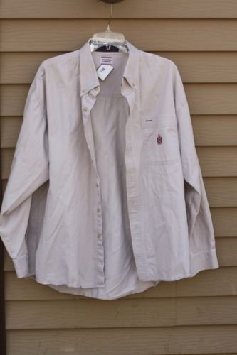 Men's BUGLE BOY 100% Cotton XXL Light Tan/Khaki Shirt