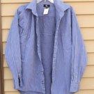 Men's CALVIN KLEIN 100% Cotton Large Lg L  Multiple Blue Striped Shirt