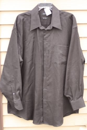 Men's Claiborne XL Extra-Large 100% Linen Black Shirt
