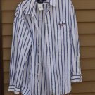Men's Polo Sport by RALPH LAUREN Cotton Shirt Blue &White Striped XL Long Sleeve