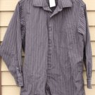 Men's CALVIN KLEIN Medium Dark Grey and Black striped 15.5 (32/33) Shirt