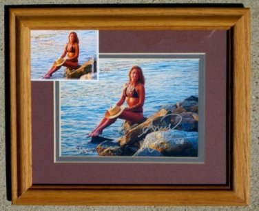 "Framed Steve Woron ""Amys Sunset"" Signed by Amy & Steve!"