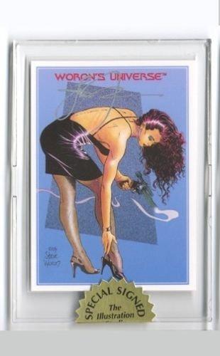 Steve Woron's MAGNUM GIRL Undistributed RARE Card Signed in Screwdown Holder