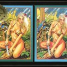 SHEENA ~2 Signed Steve Woron 2 Trading Cards Signed in Screwdown Holder