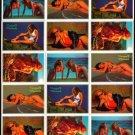 SWIMSUITS and MERMAIDS 15 sexy Promo Card Set~FREE SHIP Steve Woron/ Don Paresi