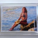 Autographed AMY 2X Swimsuit & Mermaids #0 Zero Card in Screwdown Holder