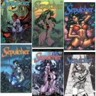 Don Paresi's Zombie Gore Horror Comic SEPULCHER all 6 Issues w ALTERNATE covers!