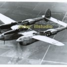 P-38 Lightning in Flight 12 O'clock High RARE 4x6 PHOTO in MINT CONDITION #1