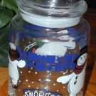"""SNOW DEN"" Large SNOWMAN Iceskating Winter Candy Jar"