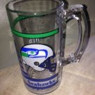 SEATTLE SEAHAWKS Large Tall Oversized Glass MUG