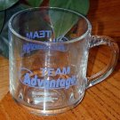 """TEAM ADVANTAGE"" Clear Glass MUG"