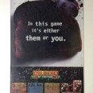 SOLDIERS of FORTUNE: SEGA or SNES Game Original Trimmed Paper Advertisement 1993