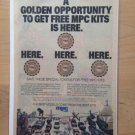 "MPC ""GOLDEN OPPORTUNITY"" Model Kits 1982 Original Trimmed Paper Advertisement"