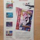 SYLVESTER & TWEETY SEGA GENESIS Game Original Trimmed Paper Advertisement 1994