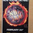 NBA JAM GAMEGEAR,SEGA,SNES Game Original Trimmed Paper Advertisement 1994