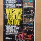 MORTAL KOMBAT GAMEGEAR,SEGA,SNES Game Original Trimmed Paper Advertisement 1992