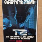 T2 TERMINATOR 2 Genesis SNES Game Gear Original Trimmed Paper Advertisement 1991