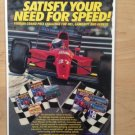 Aklaim FERRARI GRAND PRIX CHALLENGE Original Trimmed Paper Advertisement 1992